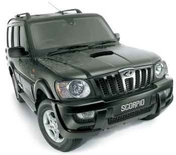 Photo: New Mahindra Scorpio side and front view