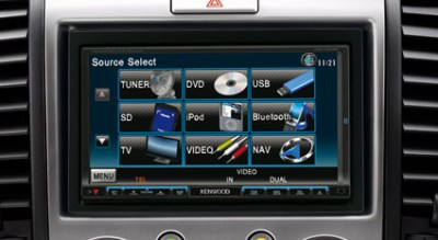 Photo: GPS-SATNAV system in the New Ford Endeavour automatic