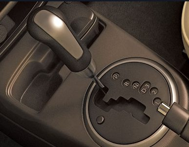 The SX4 VVT's automatic shifter
