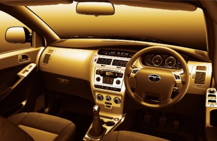 Photo: Tata Manza interior. The Manza offers amazing tri levels for a car in this class.