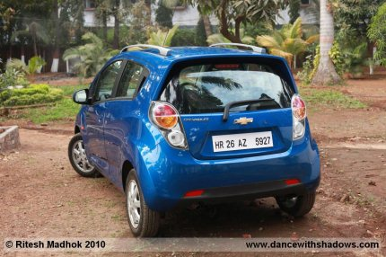 chevrolet beat rear photo, road test