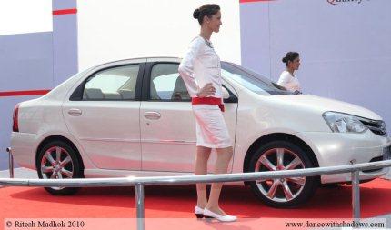 etios sedan at mumbai roadshow