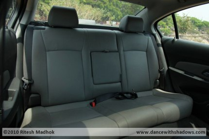 chevrolet cruze road test rear seat photo