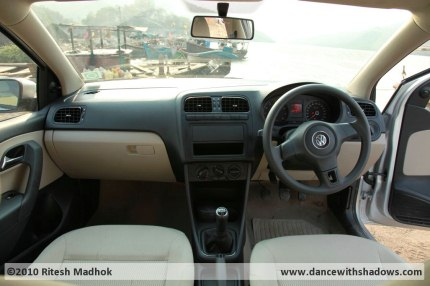 vw polo interiors in grey and beige photo