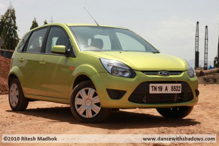 ford figo test drive pic