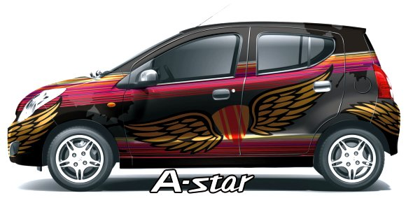 maruti a-star wrapping