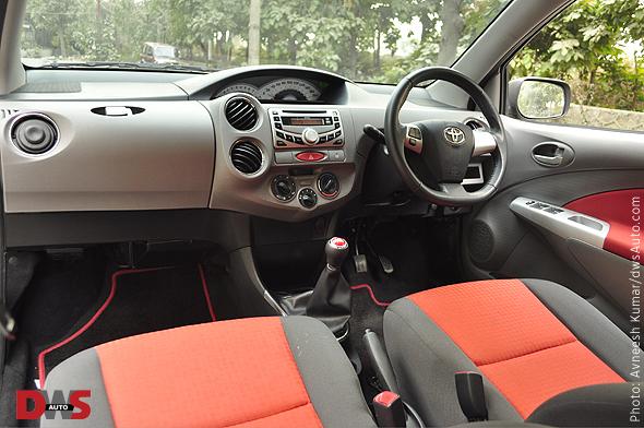 Toyota Etios interior photo