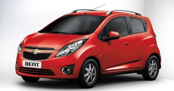 chevrolet beat red color photo