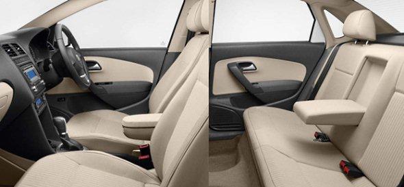 volkswagen vento interior space