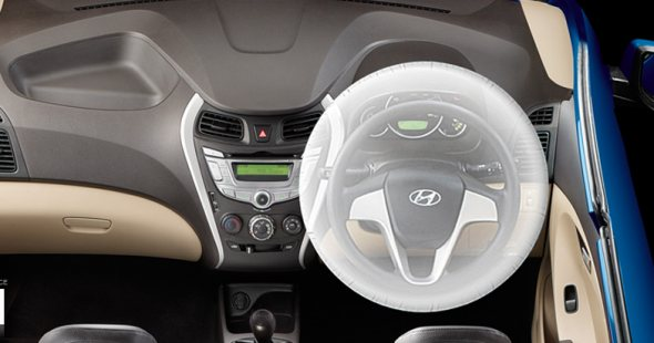 hyundai eon airbags and safety features photo