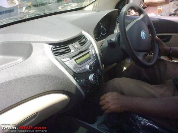 hyundai eon interiors spy photo4