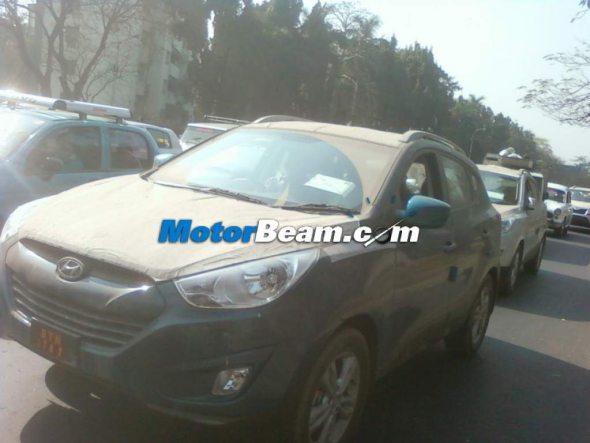 Next-gen Hyundai Tucson spied in Kolkata