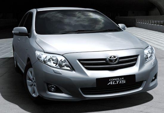 Outgoing Toyota Corolla Altis Sedan Pic