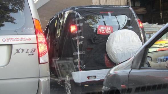 Mahindra Xylo 'mini-SUV' caught testing again