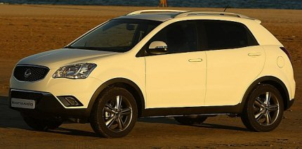 Ssangyong Korando spotted testing in India