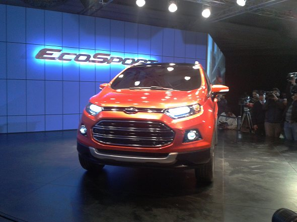 ford ecosport suv front photo