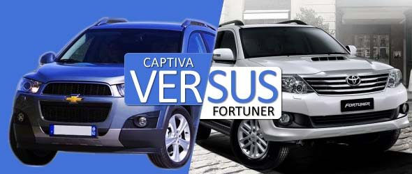 chevrolet captiva and toyota fortuner comparison
