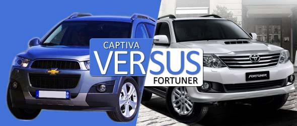 chevrolet captiva and toyota fortuner comparison