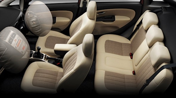 2012 fiat linea airbag and abs safety