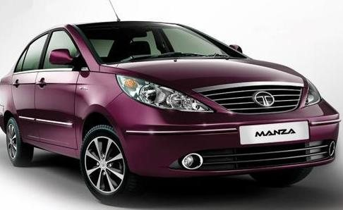 Tata Manza test mule spotted with new dual tone paint job!