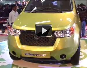 Mahindra Reva NXR electric car video review: Live from Auto Expo 2012
