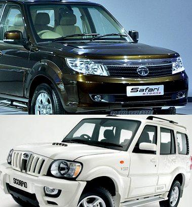 Tata Safari Storme vs. Mahindra Scorpio!