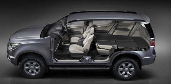 Chevrolet Trailblazer flat folding seats