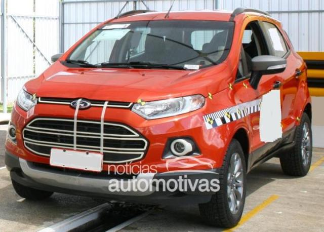 ford ecosport production version spy photo and specifications. Black Bedroom Furniture Sets. Home Design Ideas