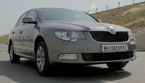skoda superb front right
