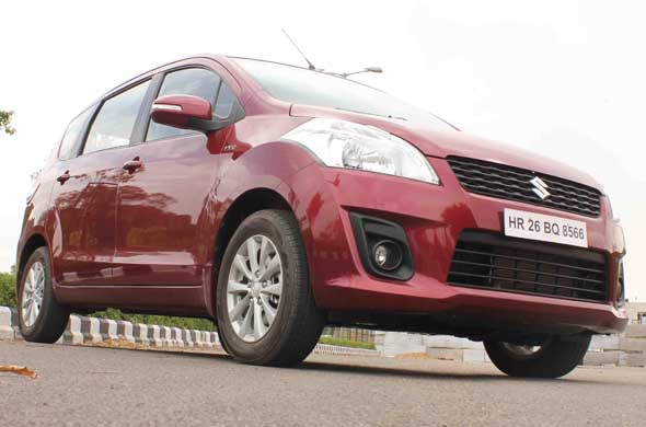ertiga front right low angle
