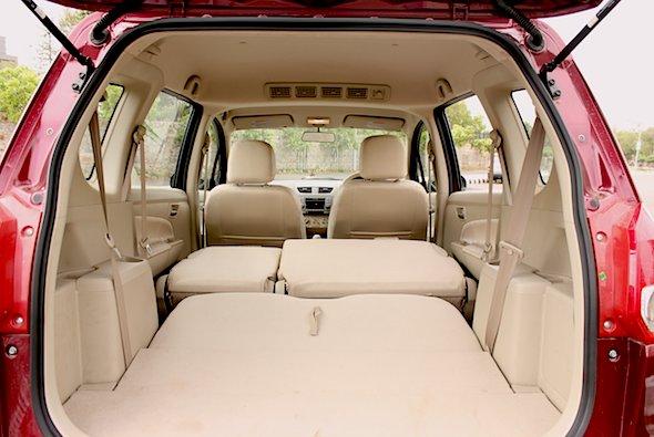 ertiga interior boot space