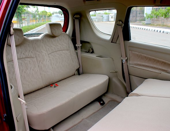 ertiga interior third row seat