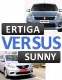 Maruti Suzuki Ertiga vs. Nissan Sunny: Diesel Comparison