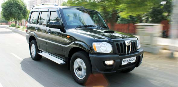 mahindra scorpio action shot