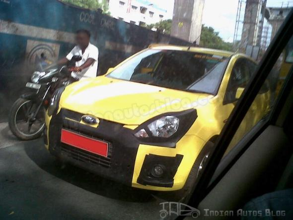 Ford Figo with cosmetic changes spotted