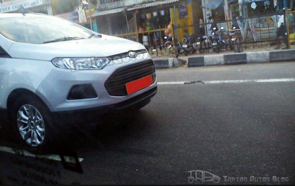 Ford EcoSport diesel Titanium seen testing