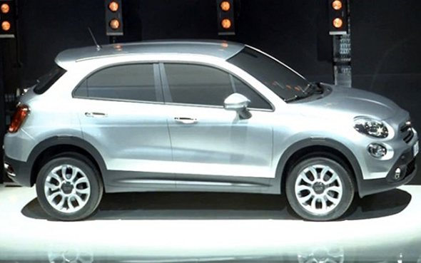 fiat 500 x side profile