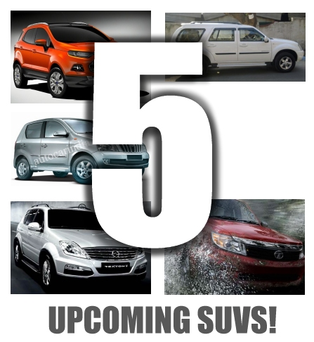 Five new SUVs coming this year and early next year!