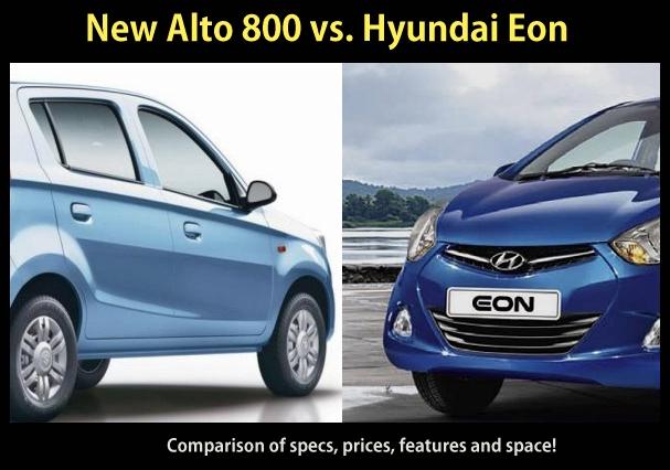 Hyundai Eon vs new Maruti Alto 800: Comparison