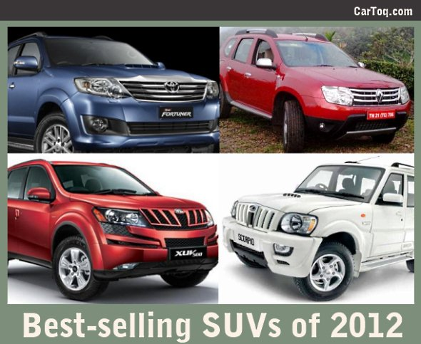 best selling suvs 2012 fortuner renault duster mahindra scorpio and xuv500. Black Bedroom Furniture Sets. Home Design Ideas