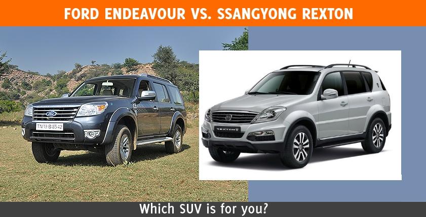 Ssangyong Rexton vs Ford Endeavour: Comparison