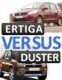 Maruti Ertiga vs Renault Duster video comparison