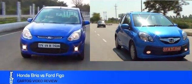 honda brio vs ford figo comparison