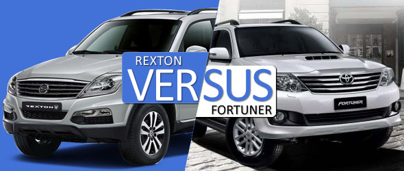 toyota fortuner vs ssangyong rexton comparison