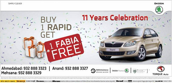 Skoda Rapid offer Ad