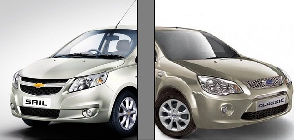 Chevrolet Sail vs Ford Classic: Sail better value, Classic better image