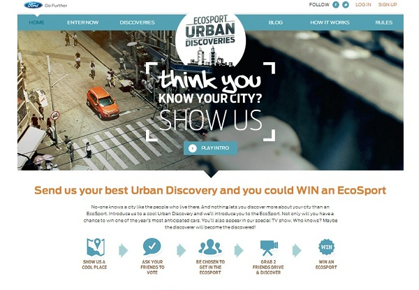 Ford Ecosport urban discoveries