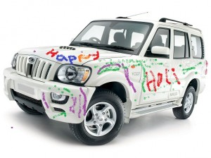 Mahindra-Scorpio-holi-photo