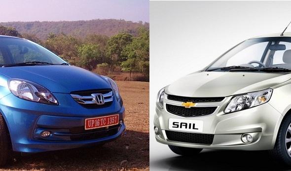 Honda Amaze vs Chevrolet Sail: Which offers better value for money?