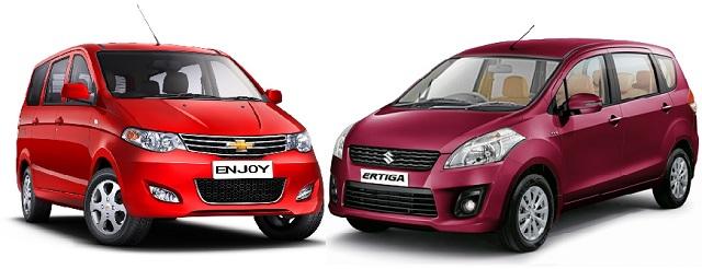 Chevrolet Enjoy vs Maruti Ertiga: Which MPV is better value for money?